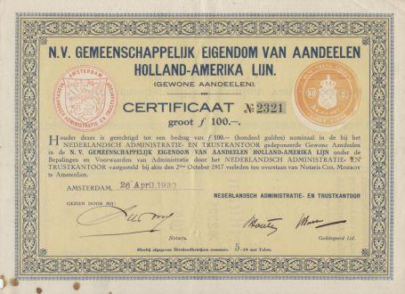 certificaat van aandeel